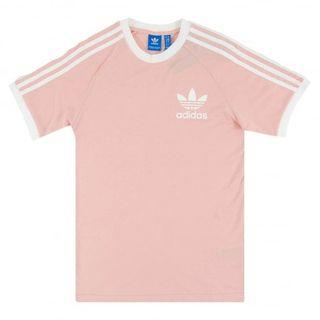 bnwt authentic adidas originals three stripes california oversized t shirt in baby pink