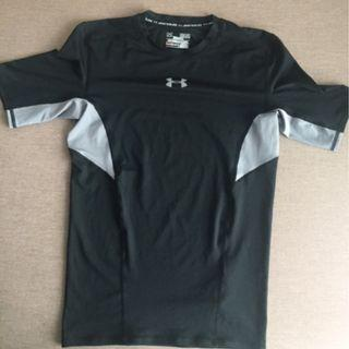 Under Armour Black & Grey Compression T-Shirt