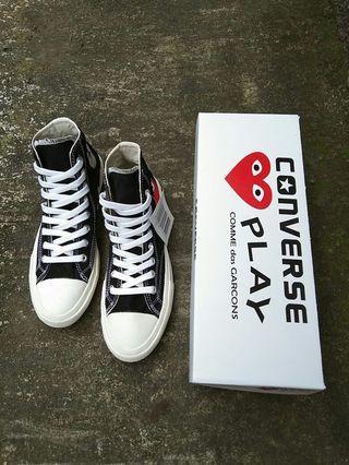 Sepatu Converse CDG Hi Premium Quality