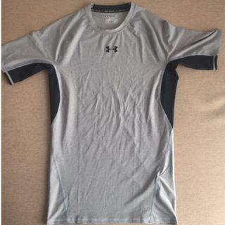 Under Armour Light Grey Compression T-Shirt