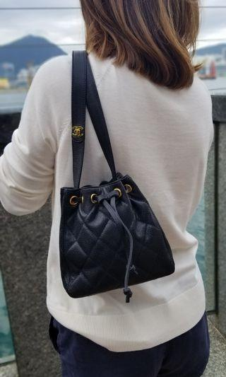 Chanel Mini Caviar Bucket Bag