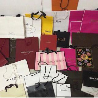 Branded paper bags RM 30 for one