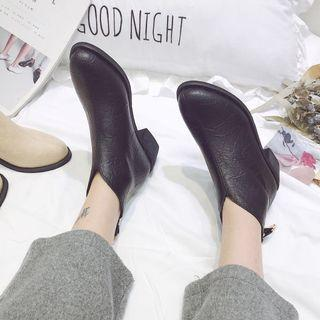 Black Ankle boots square heels