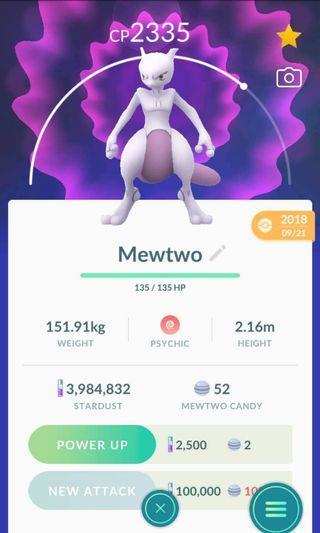 Pokemon Go mewtwo for trading