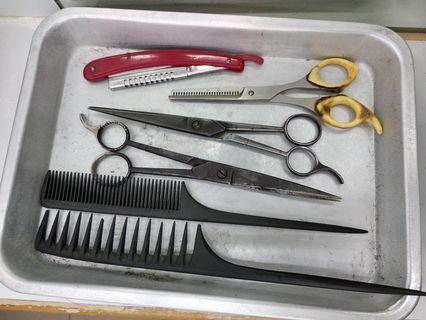 舊式上海理髮工具盤(不包工具)