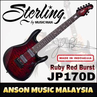 Sterling by Music Man JP170D John Petrucci Signature 7-String Electric Guitar, Ruby Red Burst(RRB)