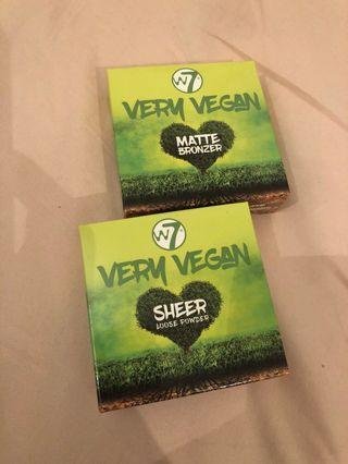 W7 very vegan loose powder and bronzer