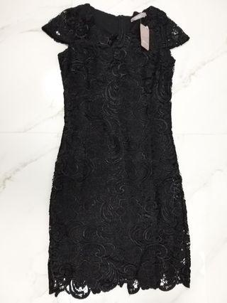 Brand New Black Lace Dress in size 36 Eur (8 UK)