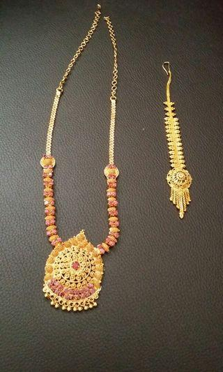 GOLD PLATED exclusive necklace & head piece