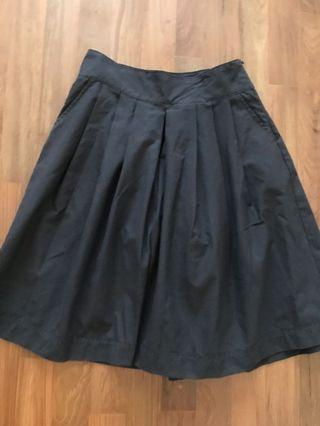 Black Culottes Skirt
