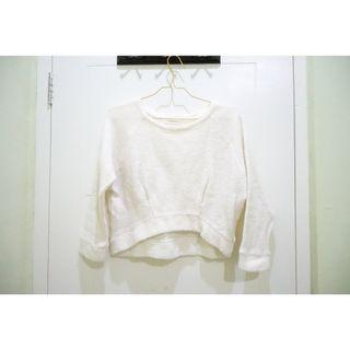 SALE White Crop Top Sweater