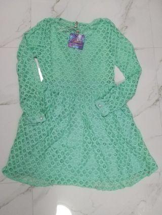 100% Brand New Baby Green Lace Dress - Ukulele brand