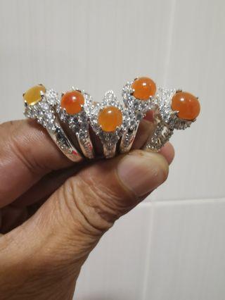 🚚 Rings缅甸天然翡翠黄翡戒指100%A货
