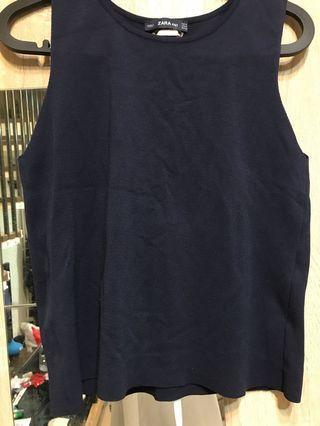 Zara 深藍色針織背心