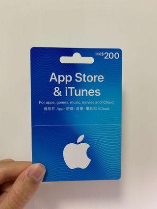 Apple App Store & iTunes Gift Card $200