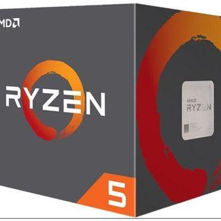 AMD Ryzen 5 2600 6 core CPU with included cooler