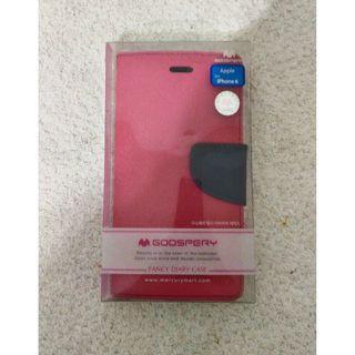 🚚 全新~ Apple for IPHONE 6 手機保護套 GOOSPERY FANCY DIARY CASE 桃紅色