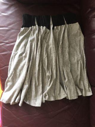 灰色半截裙