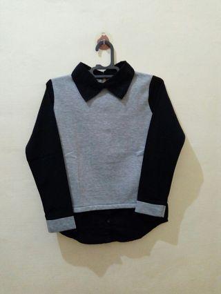 Collar grey black