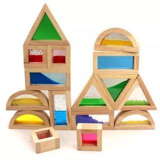 Kidpik Sensory Wooden Blocks