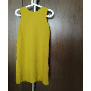 COS Mustard Wool Shift Dress