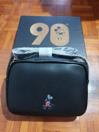 🚚 Gracegift Black Mickey Anniversary Bag + Pouch