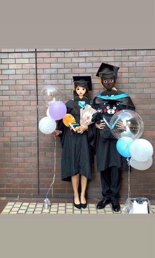 大學畢業袍 PolyU 「全套連帽」女