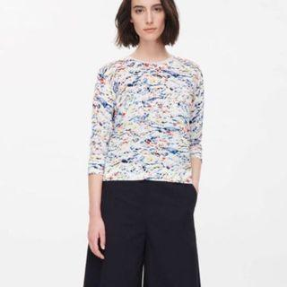 COS Abstract print knit top