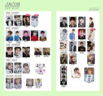 THE BOYZ JACOB PHOTOCARDS 2017~2019