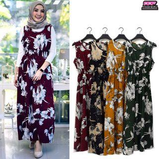 Floral Maxi Dress With Stretchable Waist