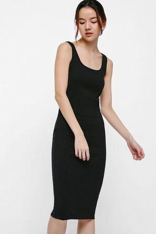 Katherin Ribbed Knit Midi Tank Dress
