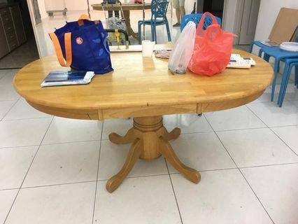Wooden table 6ft by 42 inch