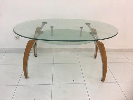 Glass table 6 ft by 39 inch