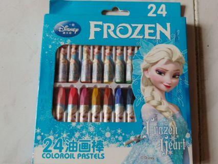 Disney Frozen 正版 24色油畫筆
