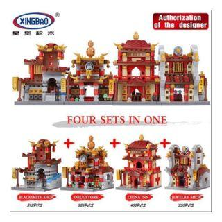 XB01101 City street series Chinese ancient architecture