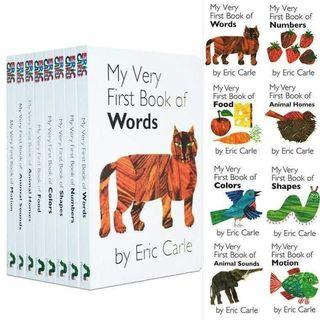 ♥Eric Carle My Very First Library - 1 collection 8 books ♥