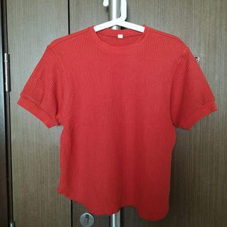 Uniqlo Waffle Crew Neck Half Sleeve T-Shirt