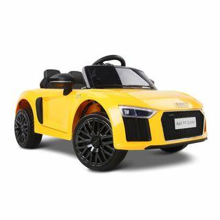 New | Audi R8 Licensed Kids Ride On Car | Yellow | Free Shipping