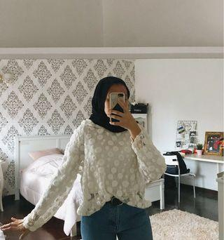 knitted lace hoodie