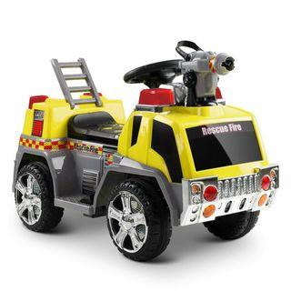 New | Fire Truck Kids Ride On Car | Yellow | Free Shipping