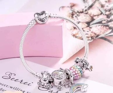 a81232ea0 Authentic Pandora Bracelet and Charm Set 925 Sterling Silver Complete  Inclusions with Box 1-2