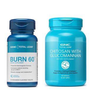 🌳旺角門市🌳💥GNC Burn 60 + 甲殼素 Chitosan with Glucomannan 💥