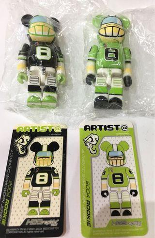 Bearbrick 100% Series 8 Artist 一對
