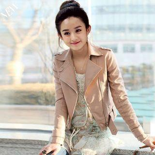 Leather Jacket, Blazer Autumn Winter Coat (Woman)