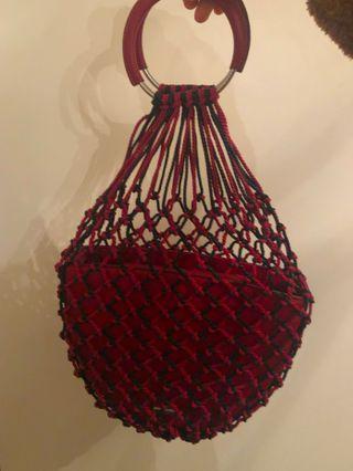 Red string bag