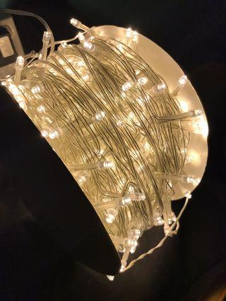 String fairy lights in warm white