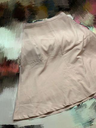 全新蓮藕粉色半截傘裙