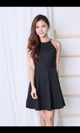 Kayla Skater Dress In Black