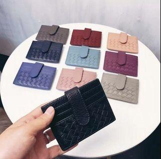 2019 new simple ultra-thin woven small card holder women's Korean version cute credit card holder