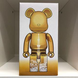 Bearbrick 400% 晴空塔 Skytree 金色 電鍍 Chrome 潮人 潮物 潮牌 Bear Be@rbrick Toy Figure Art Design Rabbrick R@bbrick Nyabrick Ny@brick 模型 擺設 收藏品 玩具 禮物 生日禮物